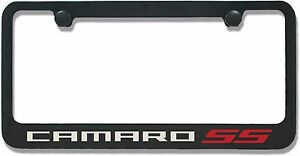 chevrolet camaro ss powder coated license plate frame
