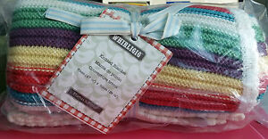 Mamas and & Papas Whirligig Knitted Blanket 70x90cm 100%Cotton Baby Boy Girl Gif
