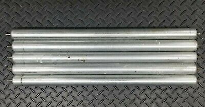 Lot Of 5 Gravity Conveyor Roller Fits 22 Id Frame 1.37 O.d. 0.25 Hex Axle