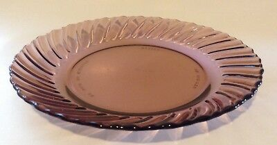 Amethyst/Purple Glass Swirled Rimmed Salad / Sandwich Plate - Made in Mexico