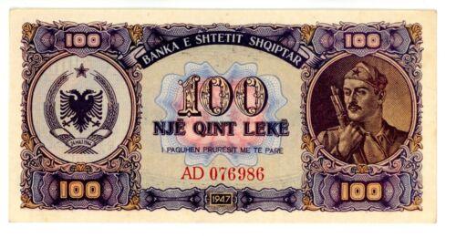 Albania ... P-21 ... 100 Leke ... 1947 ... *AU-UNC*