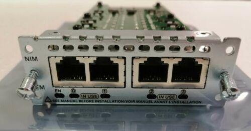 USED CISCO NIM-4E/M. TESTED.