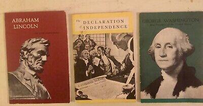 Vintage Lot Of John Hancock Insurance Advertising US History Booklets GC 1956-70