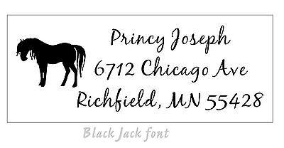 (NEW TRODAT 4914 (Ideal 200) CUSTOM SELF-INKING RETURN ADDRESS STAMP with HORSE)