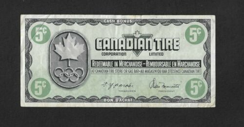 1976 Canadian Tire 5 Cents CTC S05-B-KN  Store Coupon Olympic