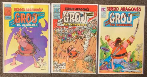 Sergio Aragones Groo the Wanderrer #1 2 6 Pacific Comics Lot VF