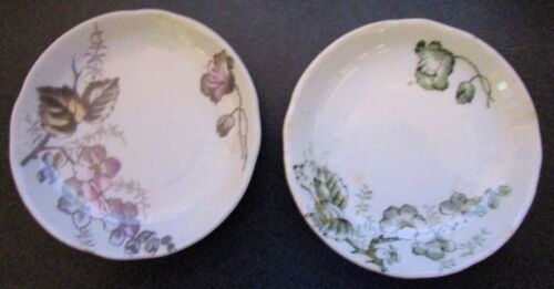 Two 1891 Floral Butter Pats, Impressed Star Marks, English