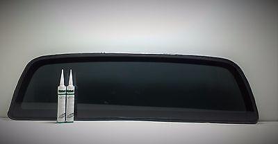 Fits: 2005-2017 Toyota Tacoma Pick Up Rear Window Back Glass Dark Tinted + 2Glue