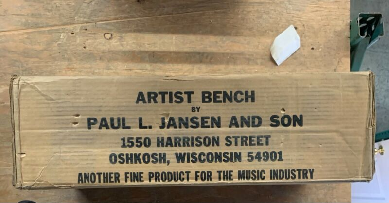 Jansen and Brothers artist piano bench