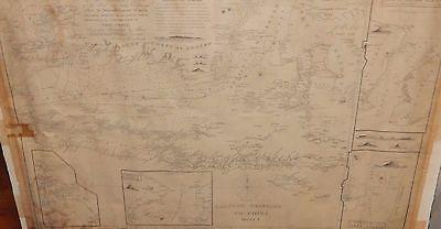 RARE JAMES HORSBURGH PLAN OF ALLASS STRAIT SHEET 1 ORIGINAL CHART MAP DATED 1824