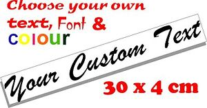 Custom-text-personalised-message-lettering-vinyl-decal-sticker-graphic-30x4cm