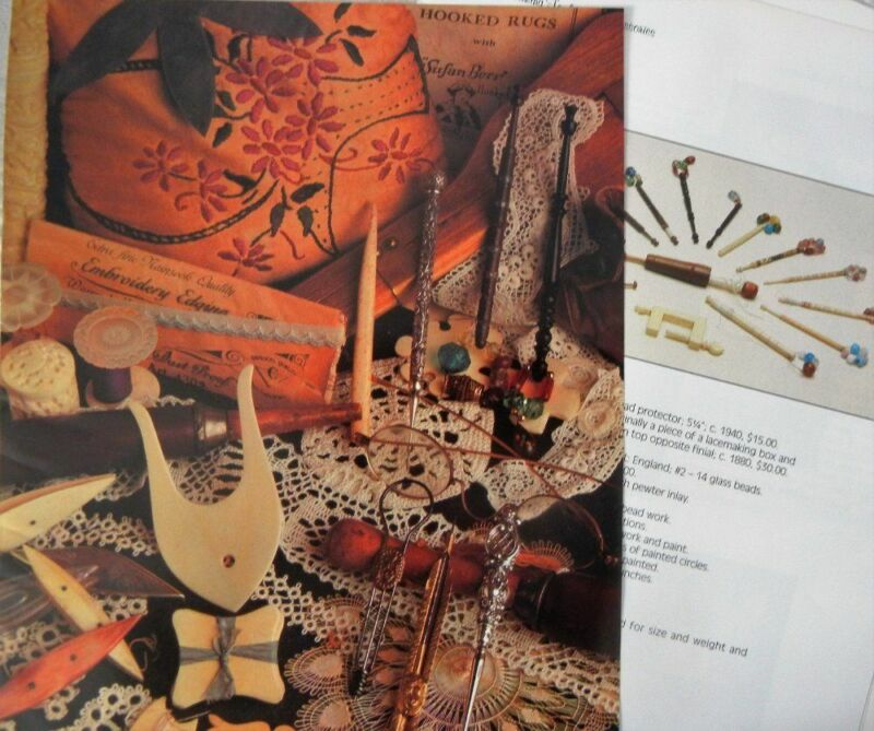 14p History Article + Color Pics -  Antique Lacemaking Tools and Accesories