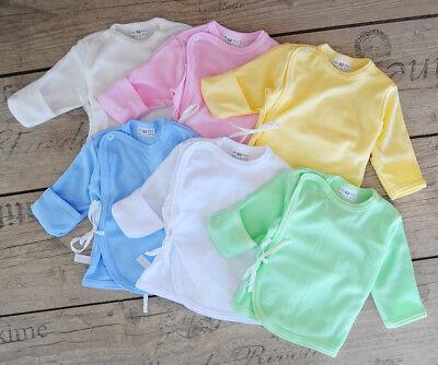 Babyhemdchen 50 56 Ertslingsshirt Flügelhemdchen Baby Shirt Wickelshirt Reborn