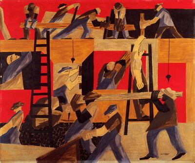 Jacob Lawrence The Builders Giclee Canvas Print  Poster for sale  Shipping to Canada
