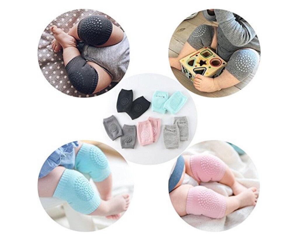 5 Pairs NEW Baby Crawling Knee Pads Safety Anti-slip Walking Leg Elbow Protector Baby