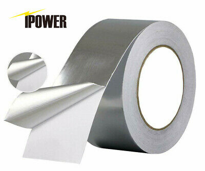 Ipower 50m Aluminum Foil Tape 2 Inche X 55 Yard Self Adhesive Ducting Tape