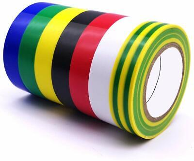 Vinyl Electrical Insulating Tape 7 Pack 7 Color Waterproof 0.6x49ft 15mm15m