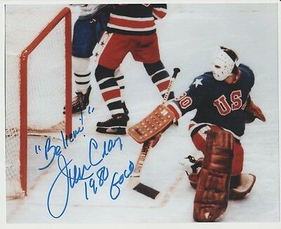 Jim Craig TEAM USA 8x10 AUTOGRAPH PHOTO SIGNED 1980 GOLD