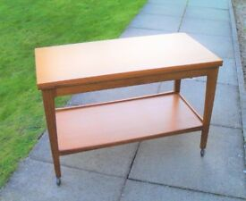 1970's Remploy Brand Folding Top Coffee Table. Ercol / G Plan style design.