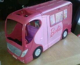 barbie sisters go camping motorhome camper van