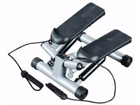 Mini step twist stepper + resistance bands stair climber home exercise workout: New