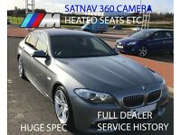 BMW 5 Series 3.0 530d M Sport 4dr HUGE SPEC 360 CAMERA WIDE SCREEN SAT NAV ETC