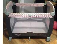 Graco contour dual height travel cot