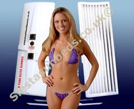 Elite 9 tube Ex-Hire Single Canopy Sunbed with guarantee. 9 x 100watt tubes AND 4 facial tubes!!!!