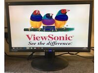 23 inch Viewsonic VA2213w LCD TFT Flat screen Panel PC Computer Monitor Display