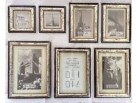 Picture Frames, set of 7