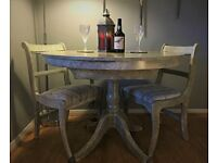 Stone Effect Dining Table With 4 - 6 Chairs