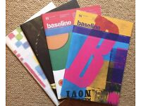 Four issues of Baseline magazine ranging from 2004 – 2008