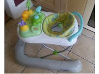 Babies R Us, 2 in 1 Walker with Removable Toy Tray