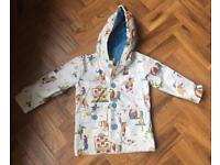 Brand new (with tags) albetta cowboy print rain jacket age 1-2