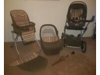 Mamas and Papas Ultimo 5 in 1 Travel System - Brown Corduroy