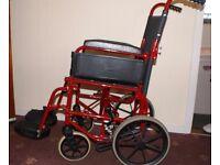 "Remploy Healthcare RHealthcare 9TRL Transit Wheelchair 14"" seat Lightweight"