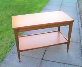 Retro 1970's Remploy Brand Folding Top Coffee Table. Ercol / G Plan style design.