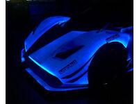 500ml phosphorus light blue car paint