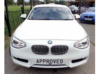 BMW 1 SERIES 2.0 120D URBAN 5d 181 BHP 0% Deposit Plans Availab (white) 2012