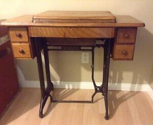 Meuble de machine coudre antique for Kijiji longueuil meuble