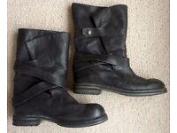 Biker Boots Black Size 40 From Fenwicks