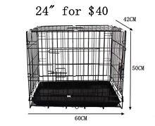 Collapsible Metal Cage Medium Pet Dog Puppy Crate Pen Enclosure Richlands Brisbane South West Preview