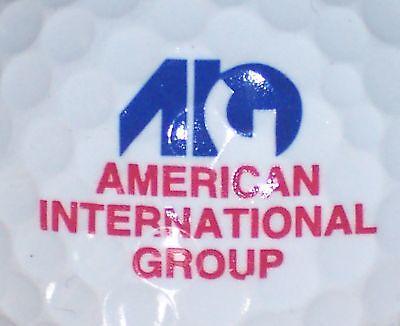 Aig   American Intl Group Insurance   Logo Golf Ball