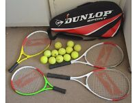 Family Big Tennis bundle Bag Rackets and balls perfect condition