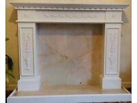 White Fireplace surround & hearth