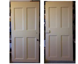 Solid wood, 4-panel cupboard door