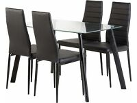 Abbey Glass Dining Set with Chairs
