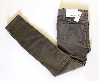 NWT Ann Taylor Loft Women's Modern Ankle Slim Skinny Grey Corduroy Pants -
