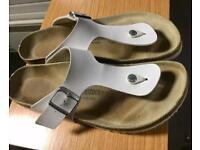 Birkenstock ramses white mens sandal - Size 11