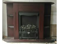 Traditional electric heater with complete mahogany surround